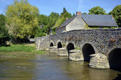 Old bridge at Asnières sur Viègre in France Royalty Free Stock Image