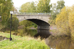 Old bridge in autumn, Petrozavodsk, Karelia, Russia Stock Photo