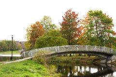 Old bridge in autumn, Petrozavodsk, Karelia, Russia Stock Photography