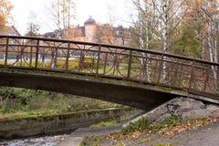 Old bridge in autumn, Petrozavodsk, Karelia Royalty Free Stock Photo