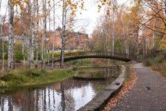 Old bridge in autumn, Petrozavodsk, Karelia Royalty Free Stock Image