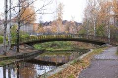 Old bridge in autumn, Petrozavodsk, Karelia Stock Images