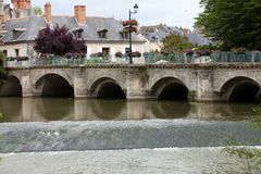 Old bridge in Azay Le Rideau.Loire Valley Royalty Free Stock Photos