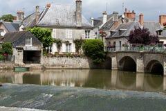 Old bridge in Azay Le Rideau. Stock Photography