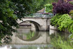 Old bridge in Azay Le Rideau. Royalty Free Stock Photos