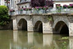 Old bridge in Azay Le Rideau Stock Image