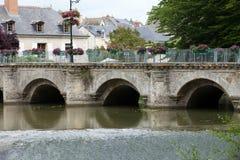 Old bridge in Azay Le Rideau Stock Photo