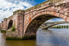 Old bridge in Berwick-upon-Tweed Royalty Free Stock Images