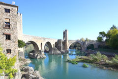 The old bridge (Besalú, girona, spain) Royalty Free Stock Image