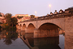 Old bridge in Beziers, France Stock Images
