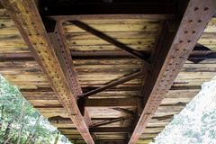 Old bridge bottom view Royalty Free Stock Photos