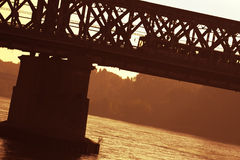 Old bridge in bratislava Stock Image