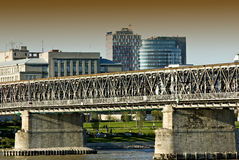 Old bridge in bratislava Royalty Free Stock Photography