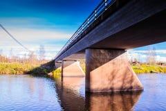 Old Bridge. On of the bridges crossing the river Pyhajoki in Matkaniva, Finland royalty free stock photography