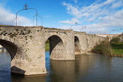 Old Bridge of Carcassonne Royalty Free Stock Images