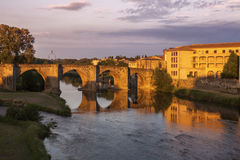 The Old Bridge in Carcassonne Royalty Free Stock Photos
