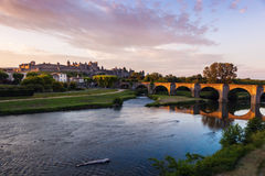 The Old Bridge in Carcassonne Stock Photo