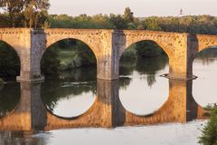 The Old Bridge in Carcassonne Royalty Free Stock Images