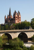 Old bridge and cathedral, Limburg Royalty Free Stock Photo