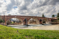 Old bridge in Cesena, Italy Royalty Free Stock Photo