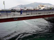 Old Bridge, Ceuta, Spain. Old Bridge in marina beach ceuta Stock Image