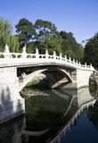 Old bridge in Chinese garden Stock Photo