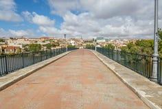 Old bridge in the city of Zamora, above the Douro river Stock Photos