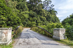 Old bridge. At countryside at deep of tropical forest Royalty Free Stock Photos