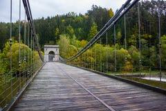 Old bridge in Czech Republic. Old bridge in South Bohemian region. Czech Republic royalty free stock images