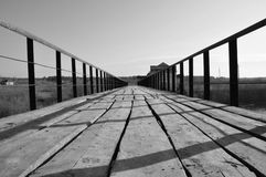 Old bridge. Destroyed by HPP Royalty Free Stock Photography