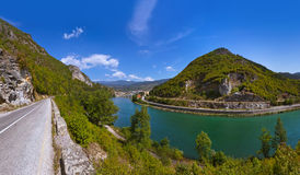 Old Bridge on Drina river in Visegrad - Bosnia and Herzegovina Royalty Free Stock Image