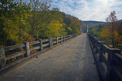 Old Bridge & Fall Colors Stock Images