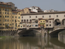 Old bridge of  Florence.  Royalty Free Stock Images