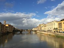 Old Bridge Florence. Beautiful View in Florence Italy stock photography
