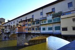 The old bridge in Florence city, Italy  Stock Images