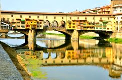The old bridge view , Ponte Vecchio ,  Florence, Italy  Stock Photography