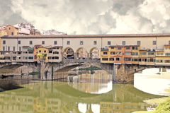 Old bridge in Florence, Italy Royalty Free Stock Photos