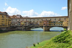 The Old Bridge, Florence, Italy. View of the Old Bridge, Florence, Italy Royalty Free Stock Images