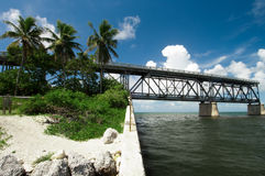 Old Bridge in the Florida Keys Royalty Free Stock Image