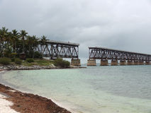 Old bridge at Florida Keys Stock Photography