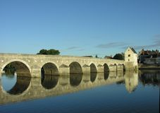 Old bridge in France Stock Image