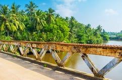 The old bridge on Gin Oya river Stock Photos