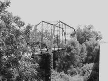 Old bridge. This is the old 775 bridge going near elmendorf tx, not in use anymore Stock Image
