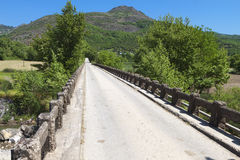 Old bridge in Greece Stock Photo
