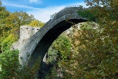 Old bridge in Greece. Traditional stone bridge in Epirus, Greece Royalty Free Stock Photo