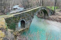 Old bridge in Greece. Traditional stone bridge in Epirus, Greece Stock Image