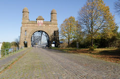 Old bridge harburg. Old bridge of harburg to hamburg on the Elbe royalty free stock photo