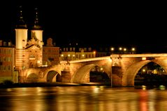 The The Old Bridge in Heidelberg, Germany Royalty Free Stock Images