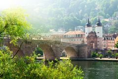 The Old Bridge in Heidelberg, Germany Stock Photos