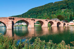 Old bridge. In Heidelberg - Germany Stock Photo